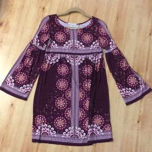 Purple and paisley dress